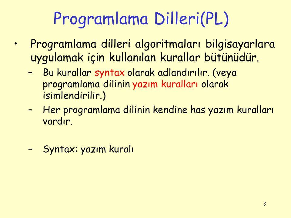 Programlama Dilleri(PL)