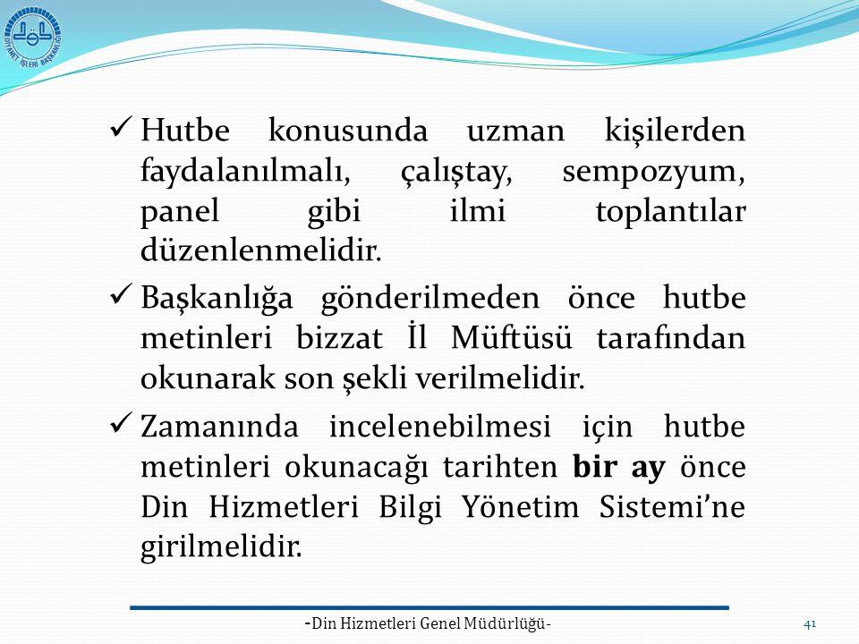 -Din Hizmetleri Genel Müdürlüğü-