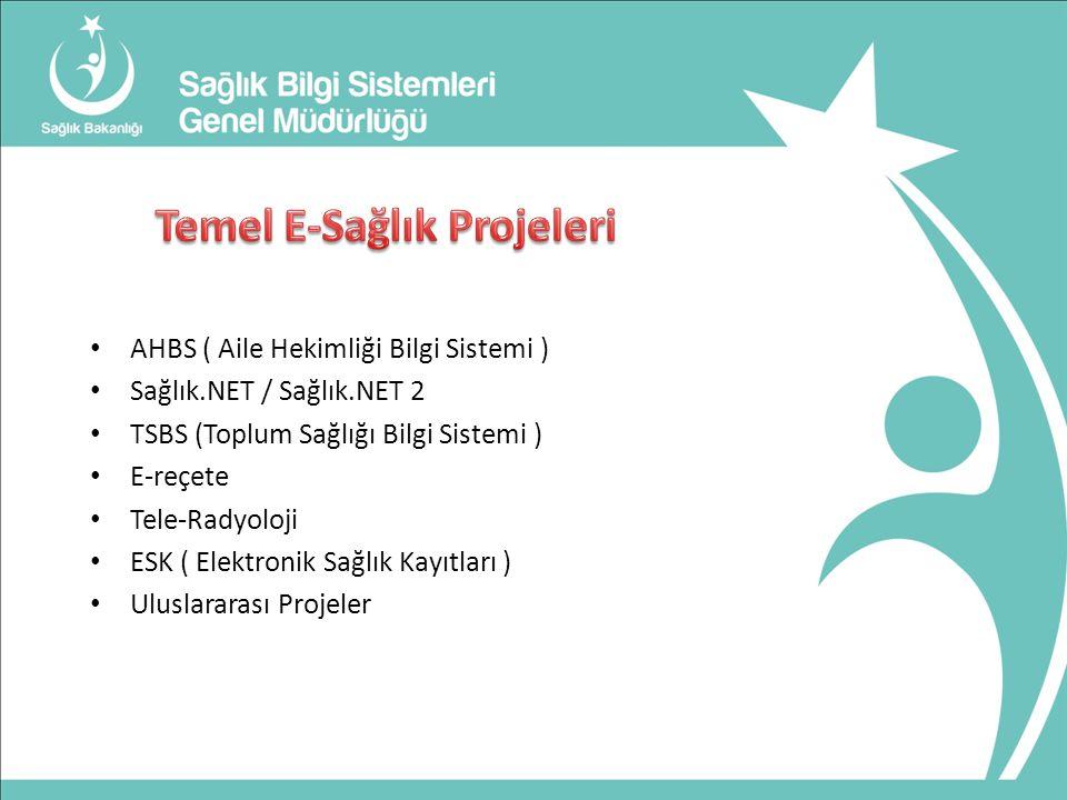 Temel E-Sağlık Projeleri