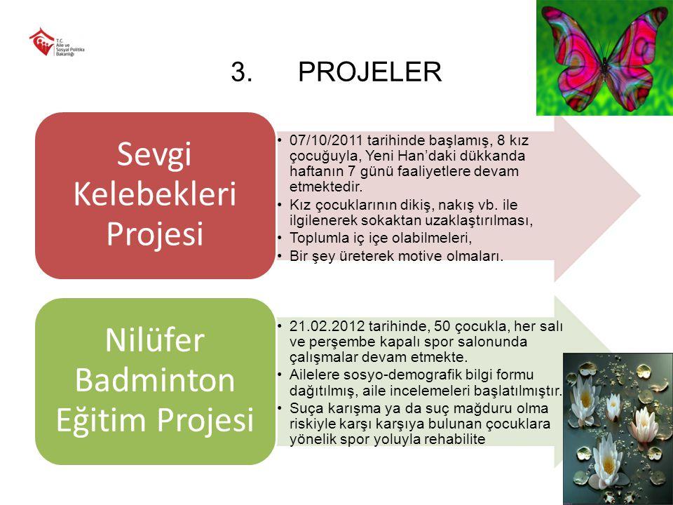 PROJELER Sevgi Kelebekleri Projesi.