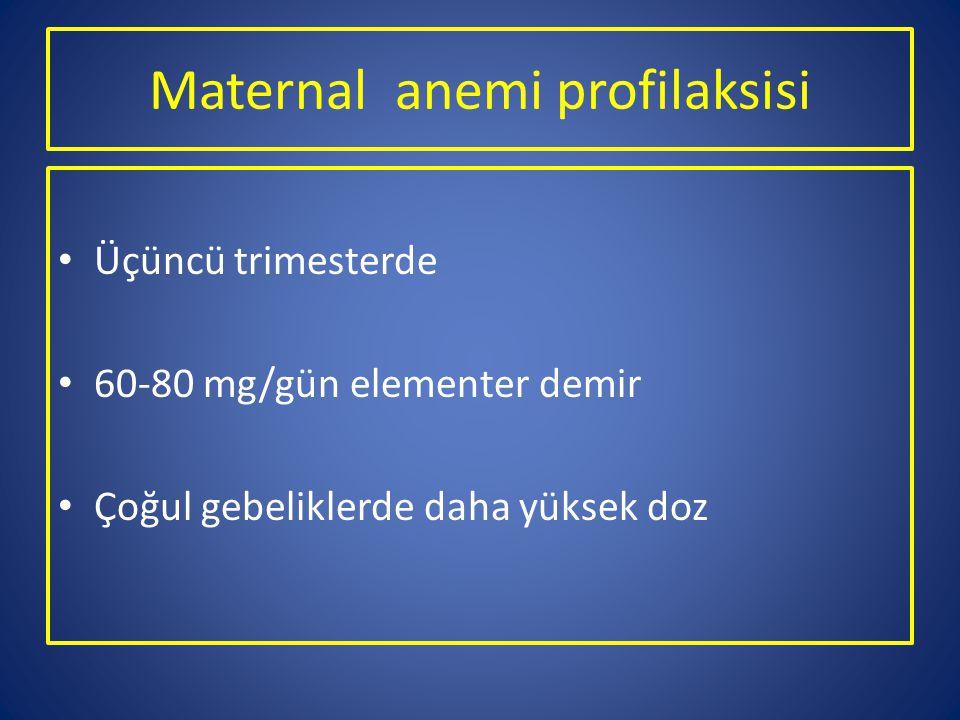 Maternal anemi profilaksisi