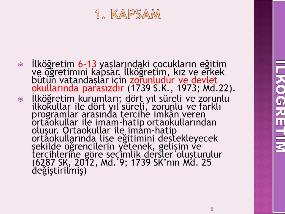 1. Kapsam