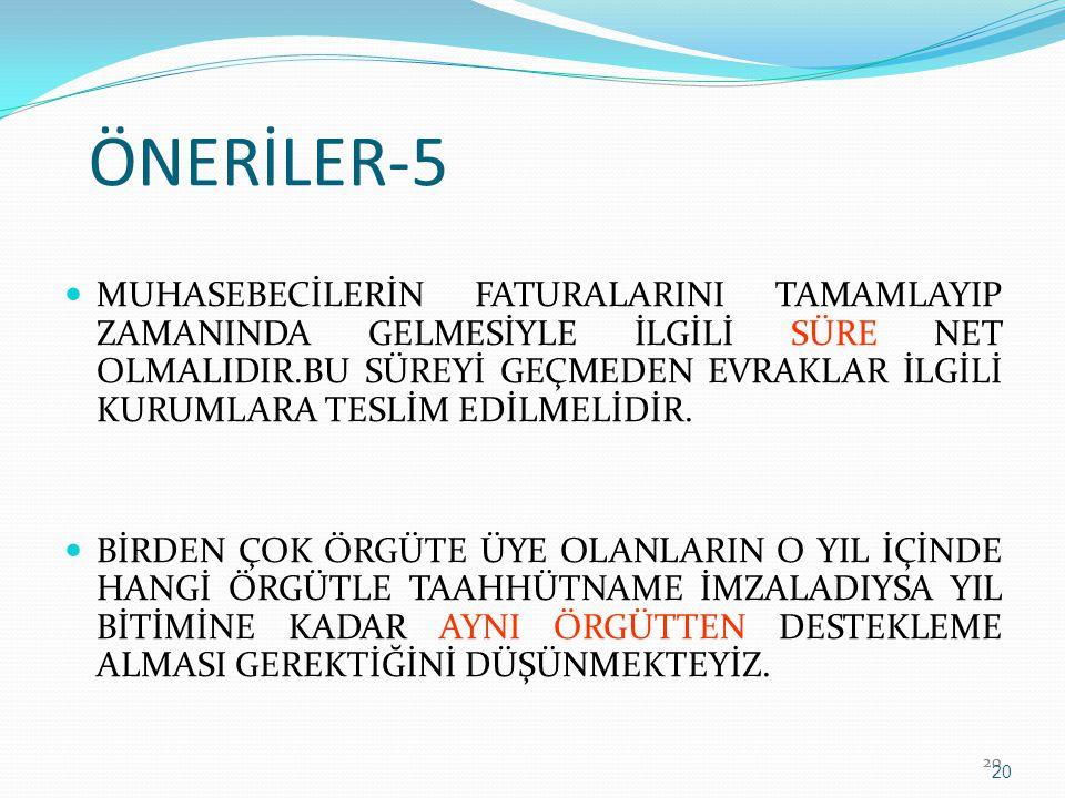 ÖNERİLER-5