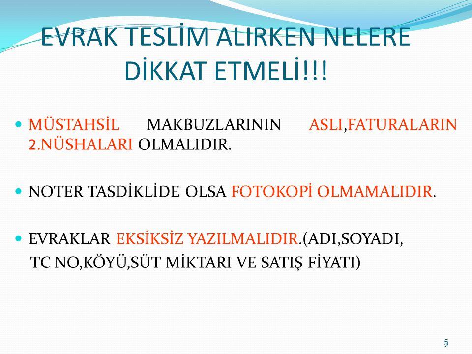 EVRAK TESLİM ALIRKEN NELERE DİKKAT ETMELİ!!!