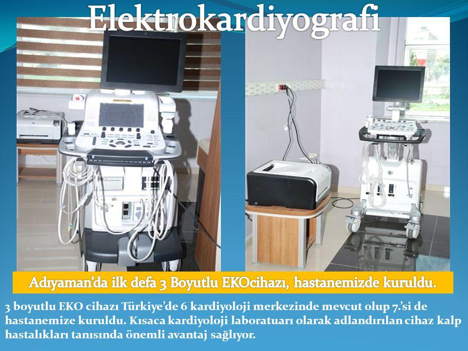 Adıyaman'da ilk defa 3 Boyutlu EKOcihazı, hastanemizde kuruldu.