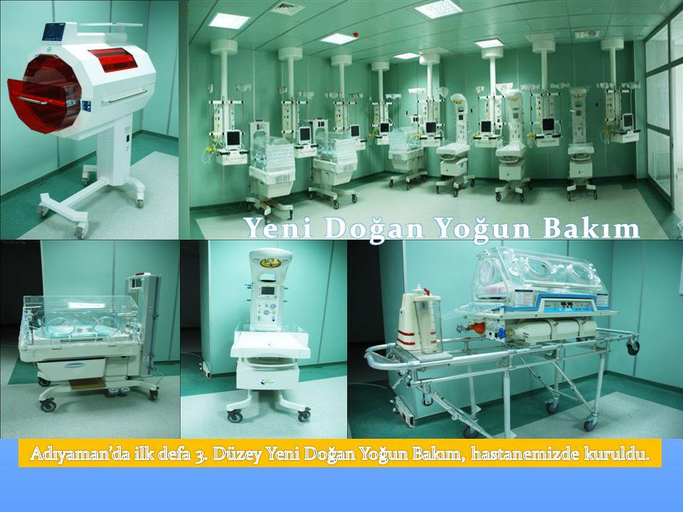 Yeni Doğan Yoğun Bakım Adıyaman'da ilk defa 3. Düzey Yeni Doğan Yoğun Bakım, hastanemizde kuruldu.
