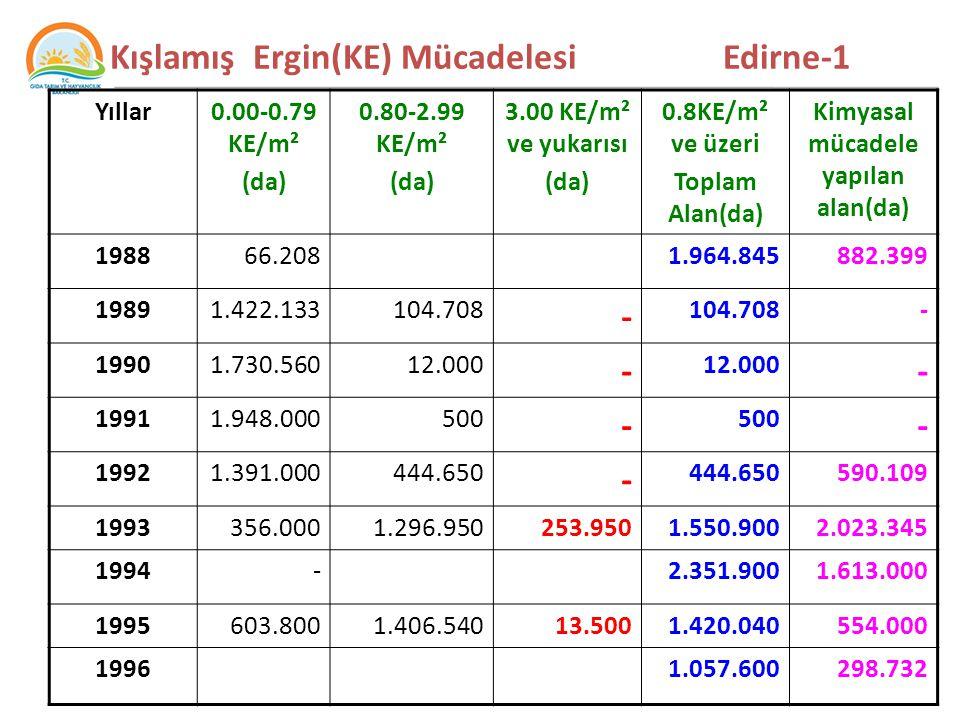 Kışlamış Ergin(KE) Mücadelesi Edirne-1