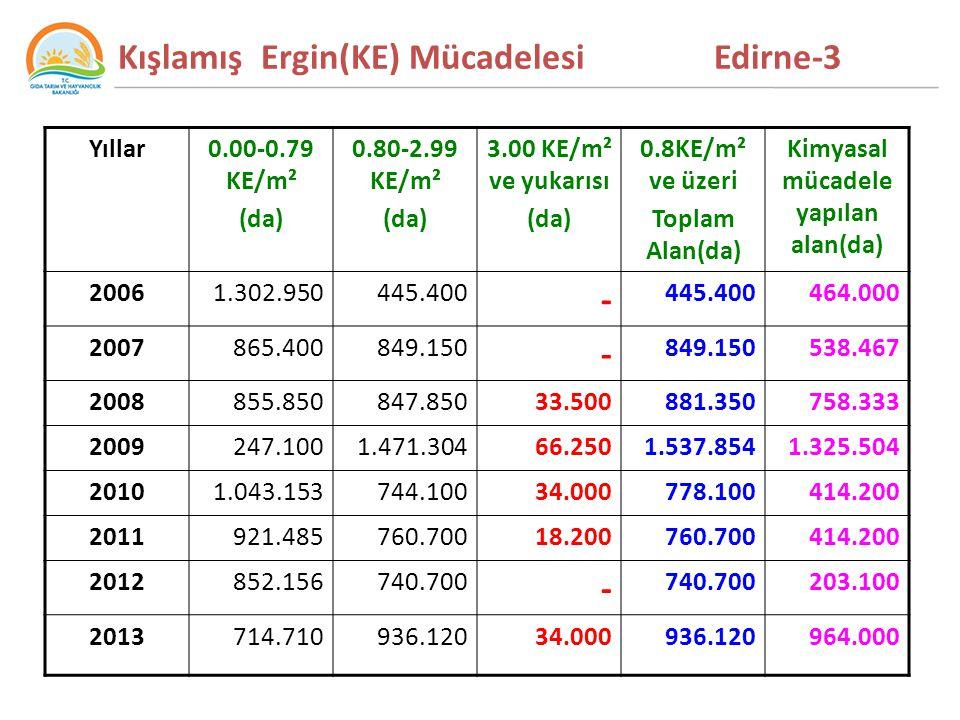 Kışlamış Ergin(KE) Mücadelesi Edirne-3