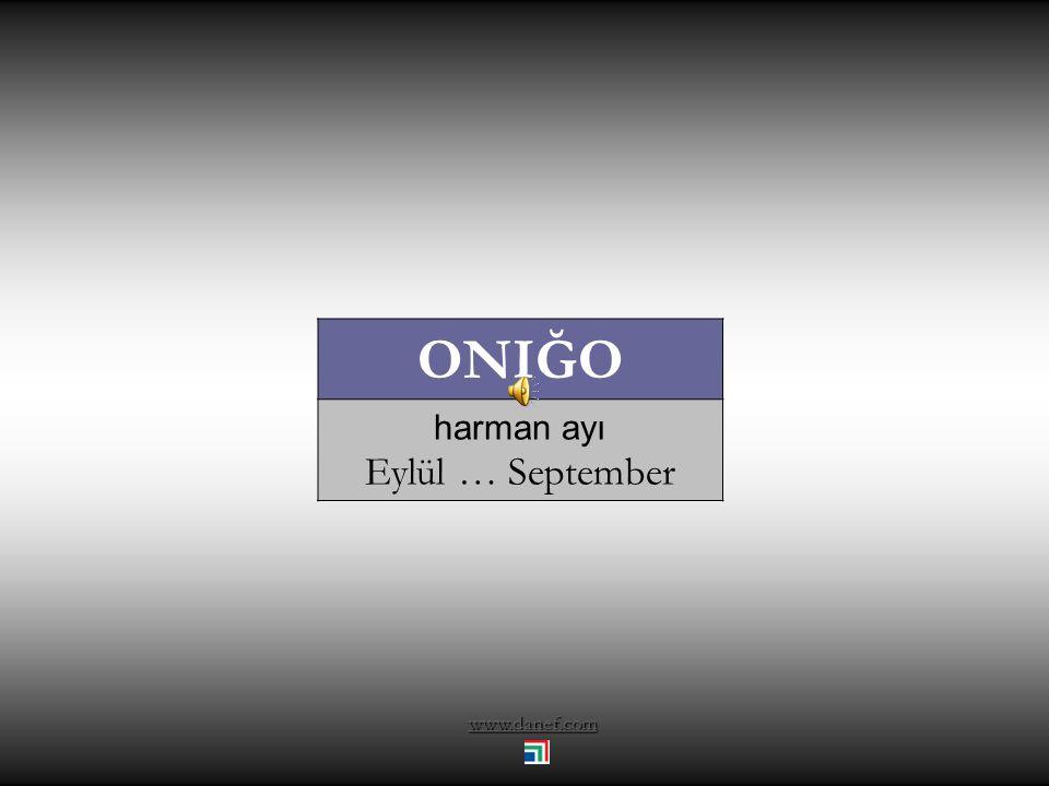 ONIĞO harman ayı Eylül … September www.danef.com