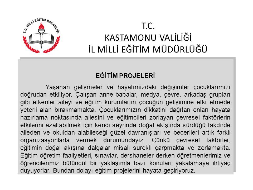 T.C. KASTAMONU VALİLİĞİ İL MİLLİ EĞİTİM MÜDÜRLÜĞÜ