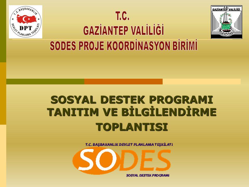 SOSYAL DESTEK PROGRAMI TANITIM VE BİLGİLENDİRME TOPLANTISI