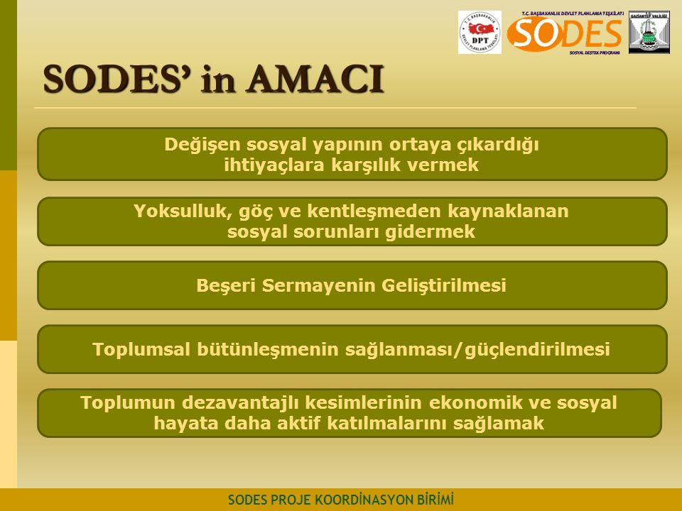 SODES' in AMACI Değişen sosyal yapının ortaya çıkardığı