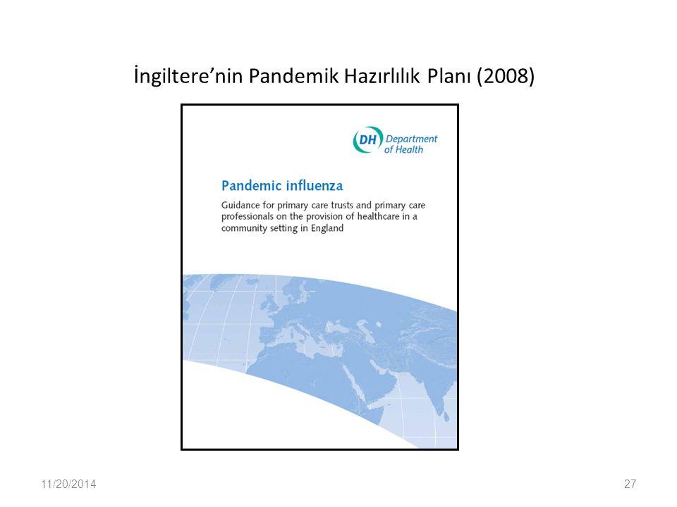 İngiltere'nin Pandemik Hazırlılık Planı (2008)