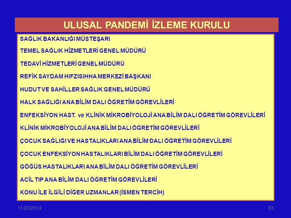 ULUSAL PANDEMİ İZLEME KURULU