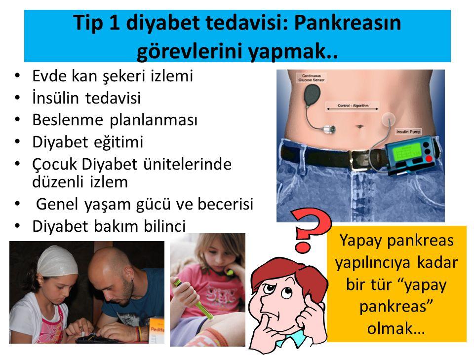 Tip 1 diyabet tedavisi: Pankreasın görevlerini yapmak..
