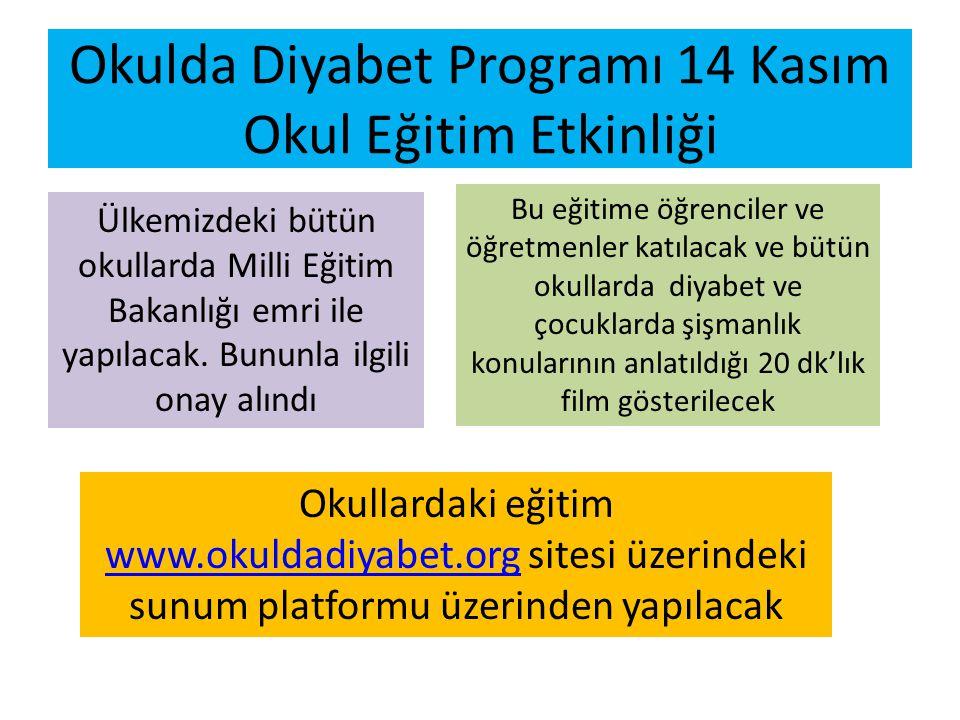 Okulda Diyabet Programı 14 Kasım Okul Eğitim Etkinliği