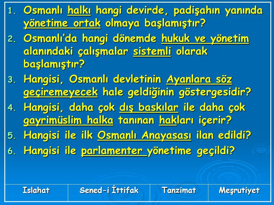 Hangisi ile ilk Osmanlı Anayasası ilan edildi