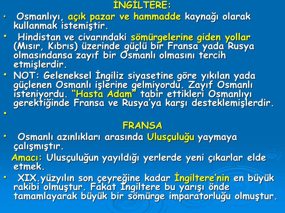 Osmanlı azınlıkları arasında Ulusçuluğu yaymaya çalışmıştır.