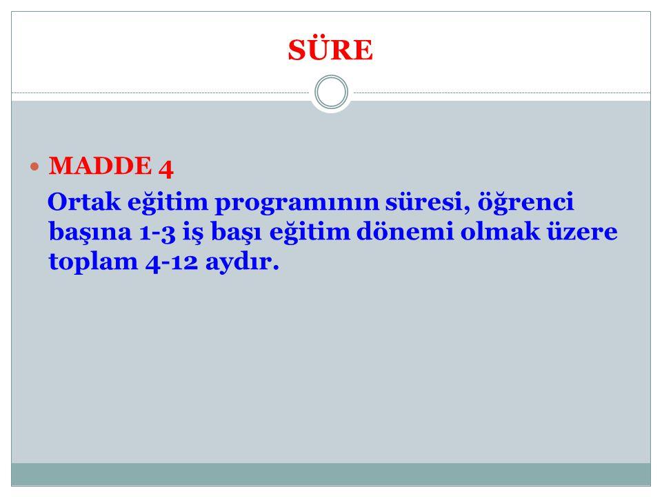 SÜRE MADDE 4.