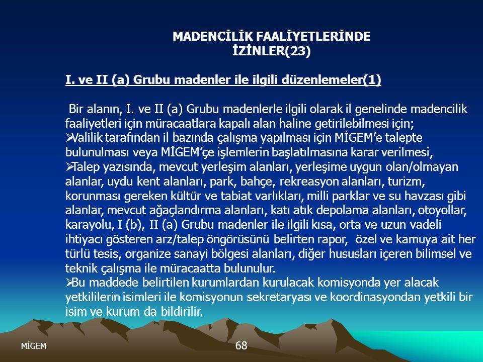 MADENCİLİK FAALİYETLERİNDE İZİNLER(23)