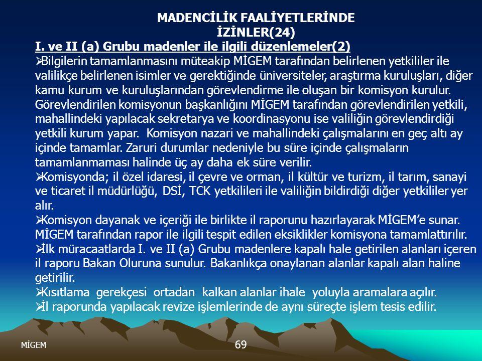 MADENCİLİK FAALİYETLERİNDE İZİNLER(24)