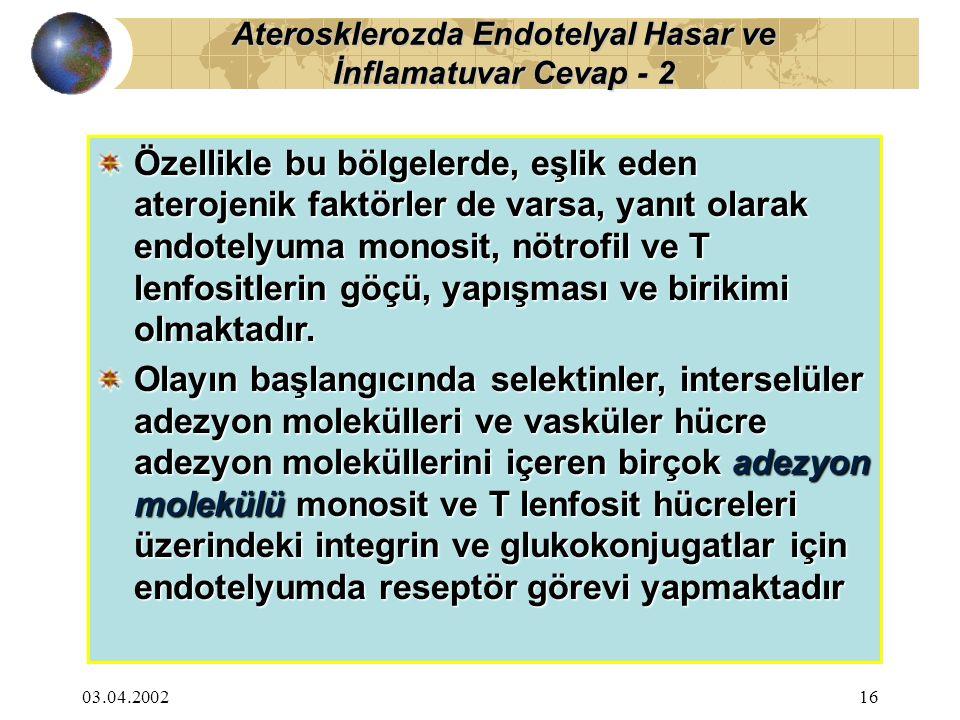 Aterosklerozda Endotelyal Hasar ve