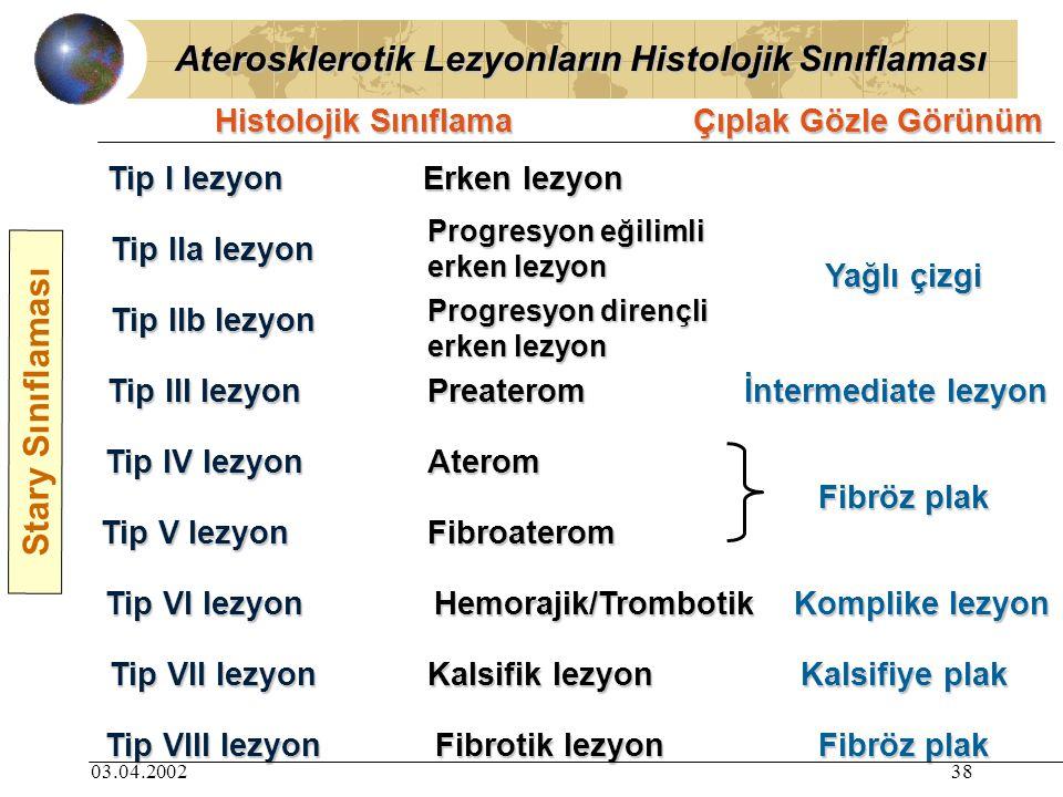 Aterosklerotik Lezyonların Histolojik Sınıflaması