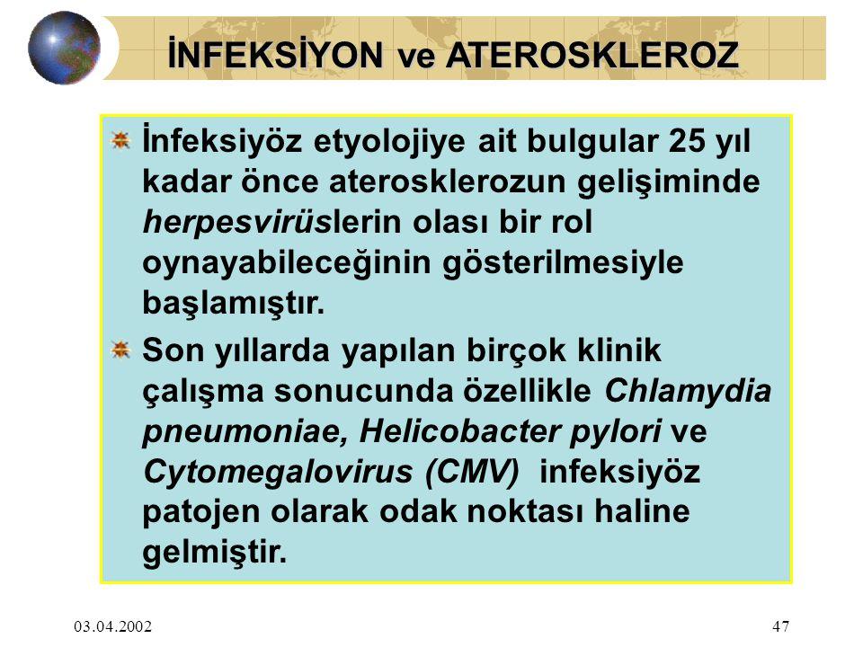 İNFEKSİYON ve ATEROSKLEROZ
