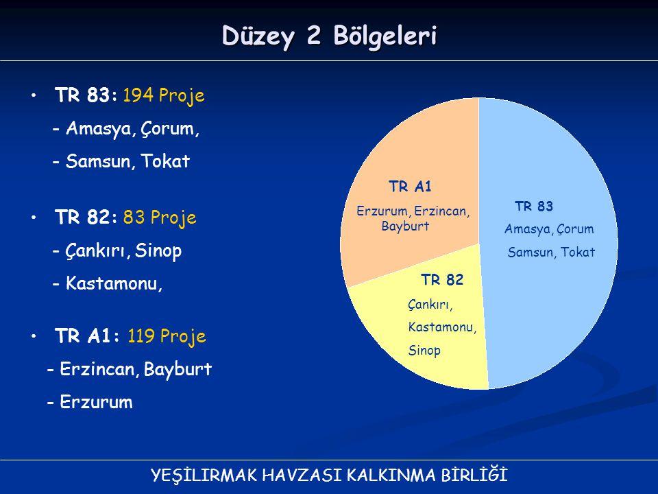 Düzey 2 Bölgeleri TR 83: 194 Proje - Amasya, Çorum, - Samsun, Tokat