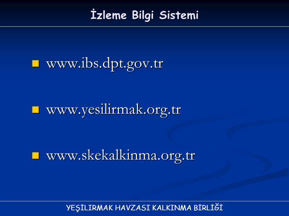 www.ibs.dpt.gov.tr www.yesilirmak.org.tr www.skekalkinma.org.tr
