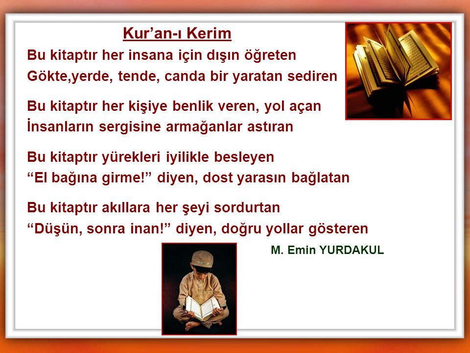 Kur'an-ı Kerim Bu kitaptır her insana için dışın öğreten