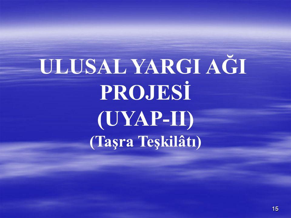 ULUSAL YARGI AĞI PROJESİ (UYAP-II)