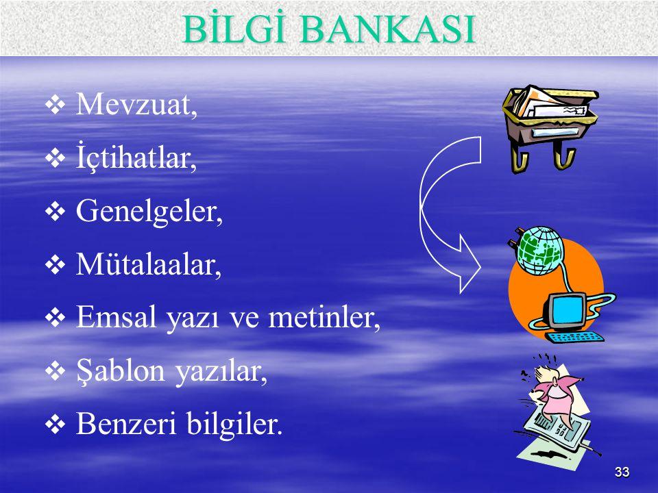 BİLGİ BANKASI Mevzuat, İçtihatlar, Genelgeler, Mütalaalar,