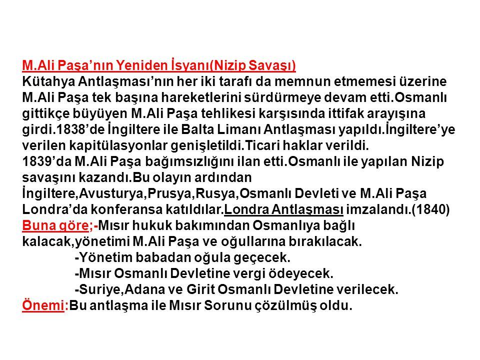 M.Ali Paşa'nın Yeniden İsyanı(Nizip Savaşı)