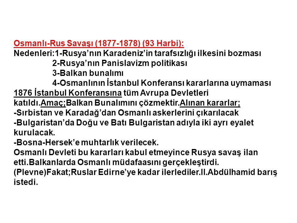 Osmanlı-Rus Savaşı (1877-1878) (93 Harbi):