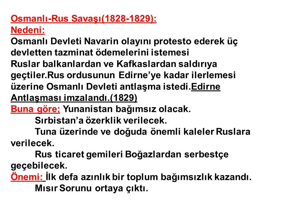 Osmanlı-Rus Savaşı(1828-1829):