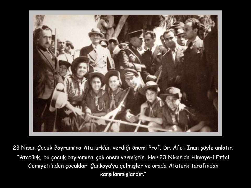 23 Nisan Çocuk Bayramı'na Atatürk'ün verdiği önemi Prof. Dr