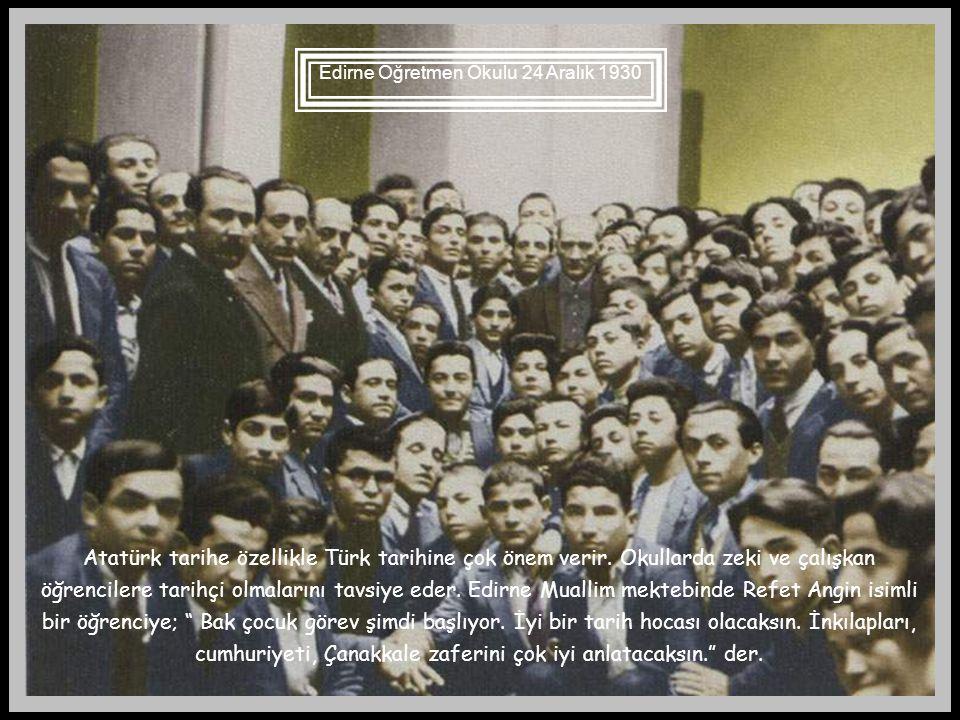 Edirne Öğretmen Okulu 24 Aralık 1930