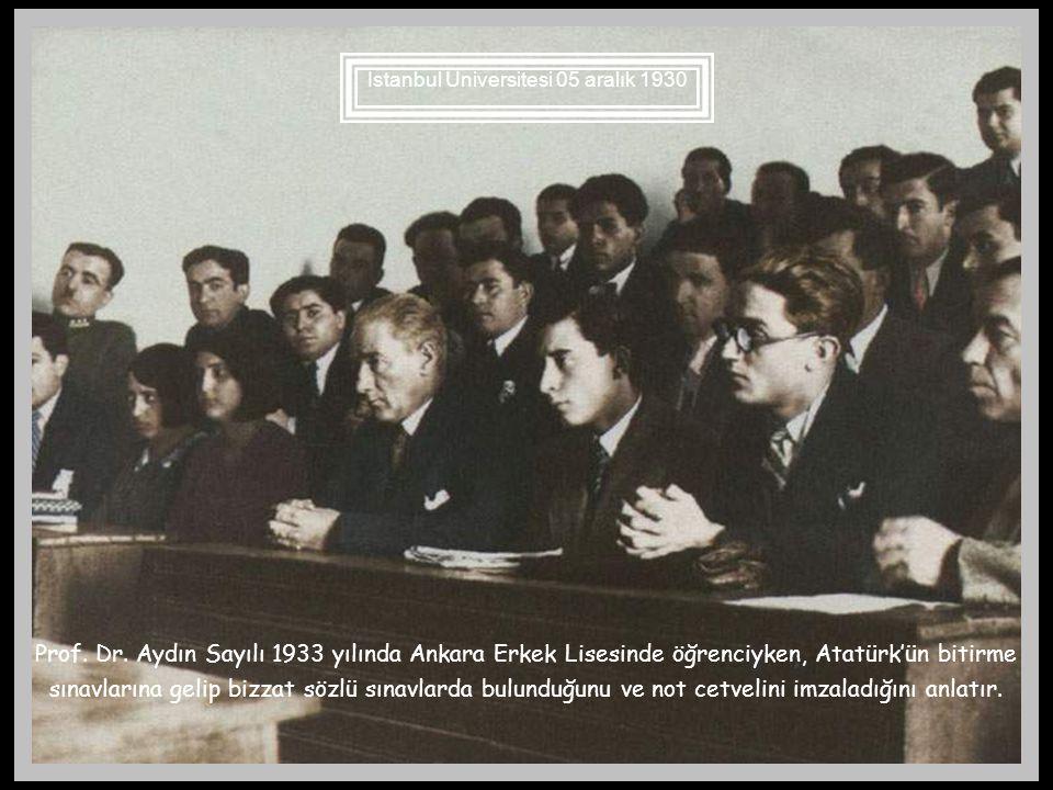 İstanbul Üniversitesi 05 aralık 1930