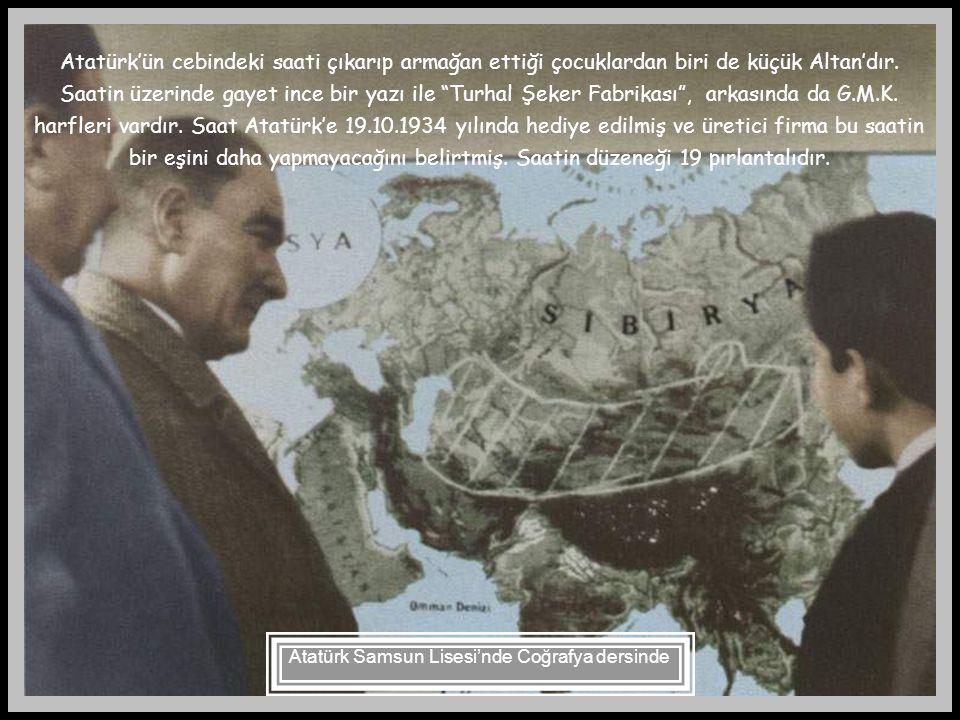 Atatürk Samsun Lisesi'nde Coğrafya dersinde