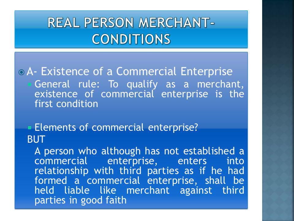 REAL PERSON merchant-CONDITIONS