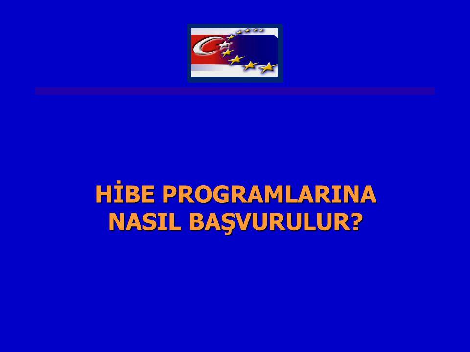 HİBE PROGRAMLARINA NASIL BAŞVURULUR