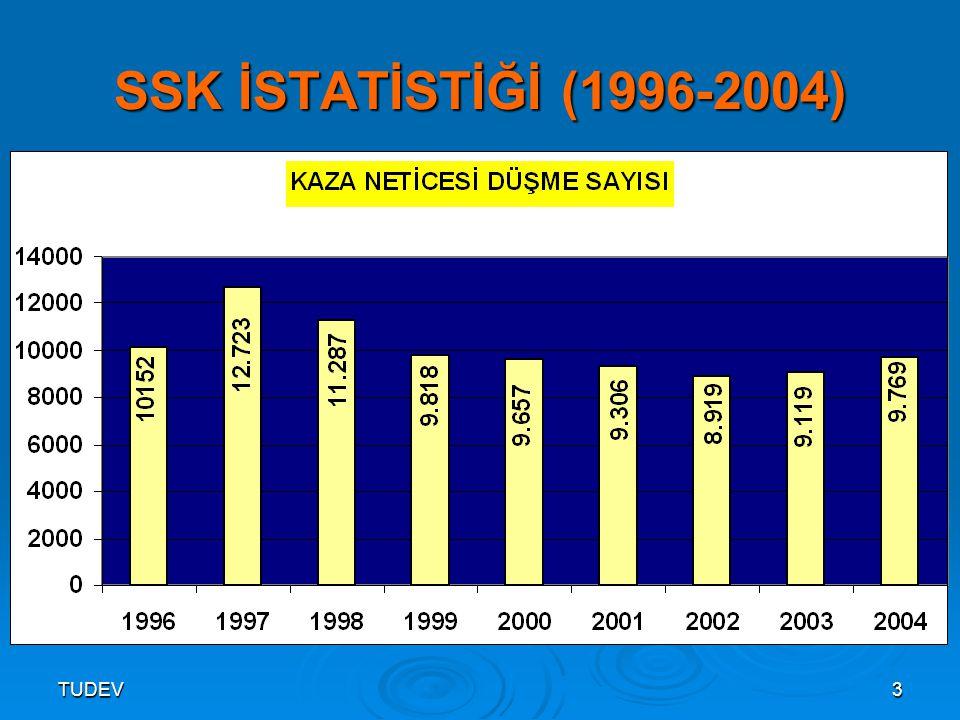 SSK İSTATİSTİĞİ (1996-2004) TUDEV