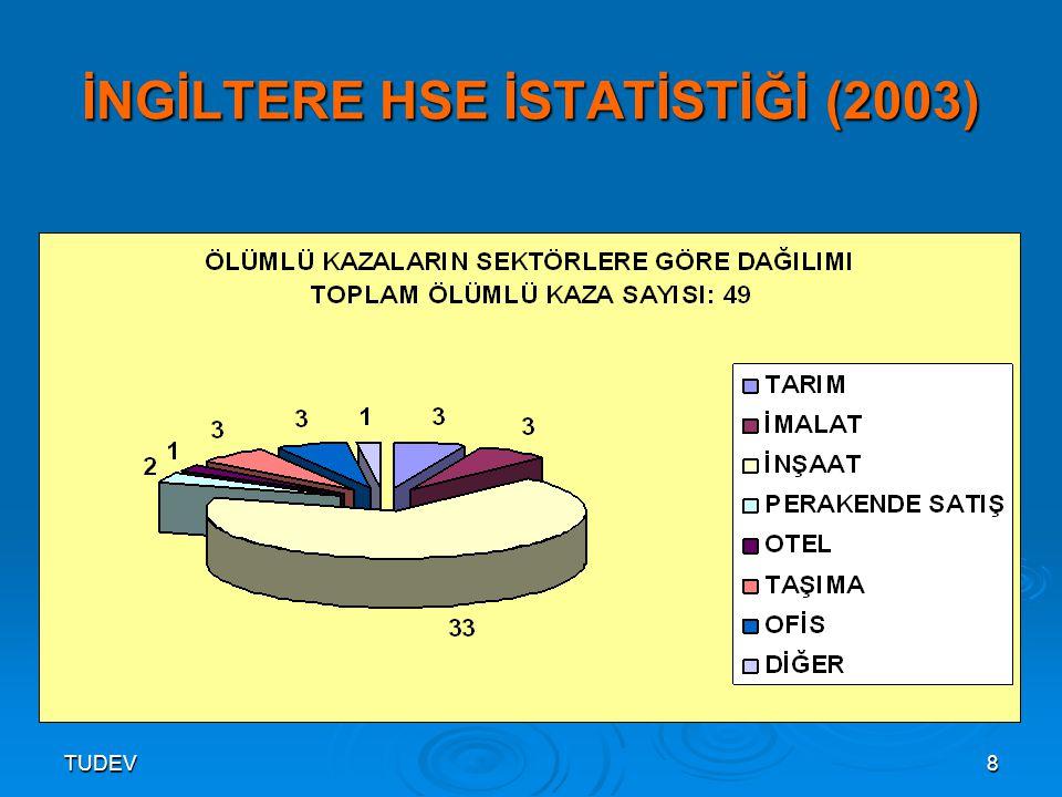 İNGİLTERE HSE İSTATİSTİĞİ (2003)