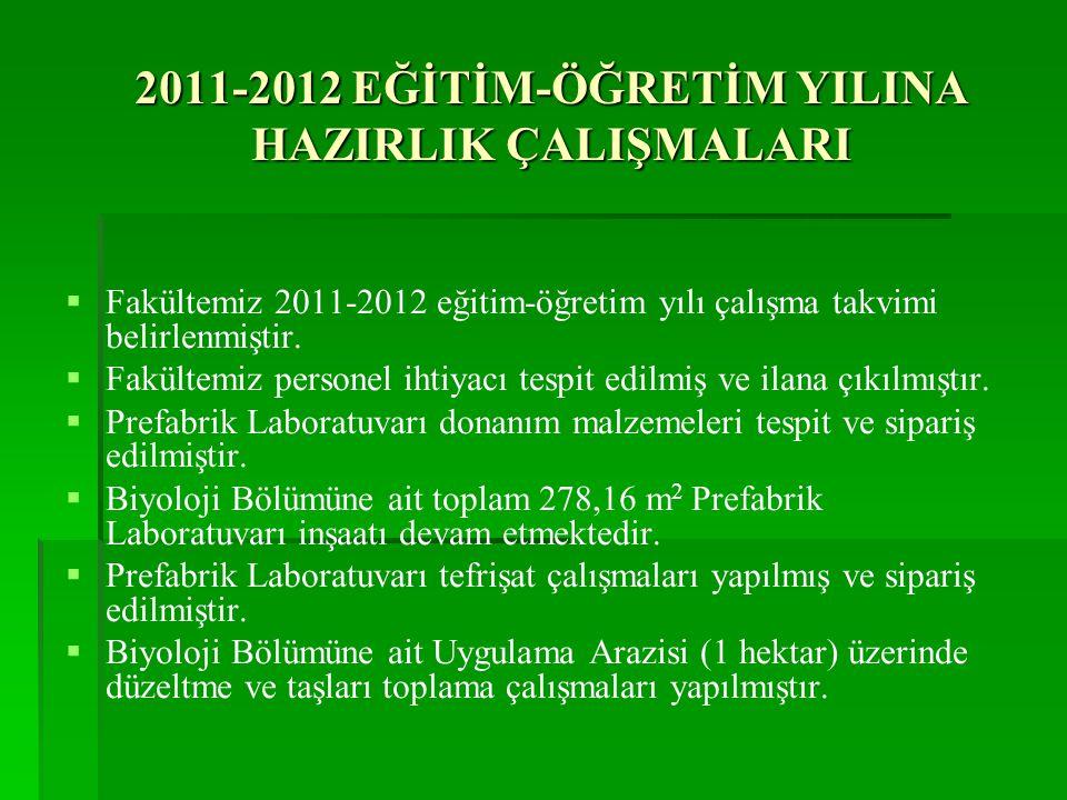 2011-2012 EĞİTİM-ÖĞRETİM YILINA HAZIRLIK ÇALIŞMALARI