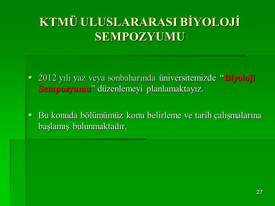 KTMÜ ULUSLARARASI BİYOLOJİ SEMPOZYUMU