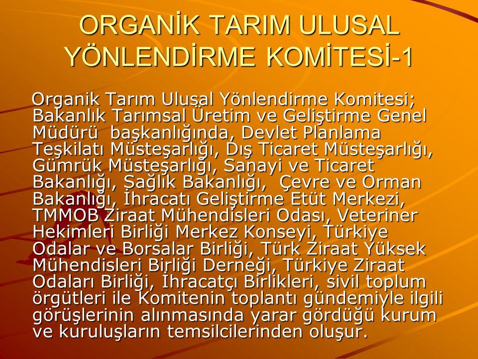 ORGANİK TARIM ULUSAL YÖNLENDİRME KOMİTESİ-1