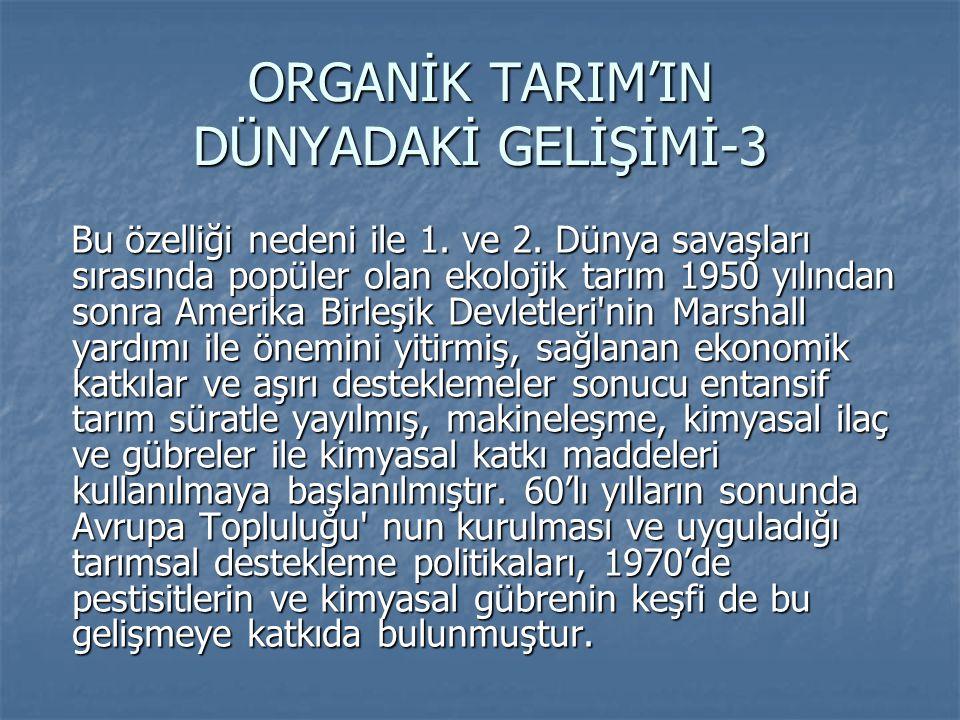 ORGANİK TARIM'IN DÜNYADAKİ GELİŞİMİ-3