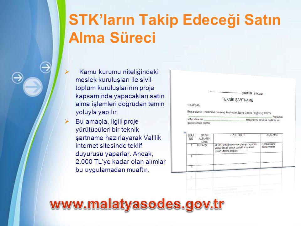 STK'ların Takip Edeceği Satın Alma Süreci