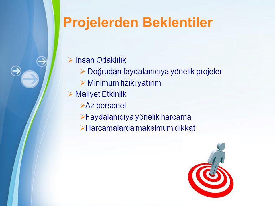 Projelerden Beklentiler